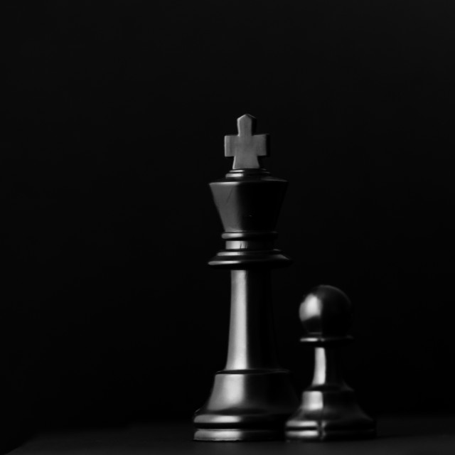 """""""King and Pawn"""" stock image"""