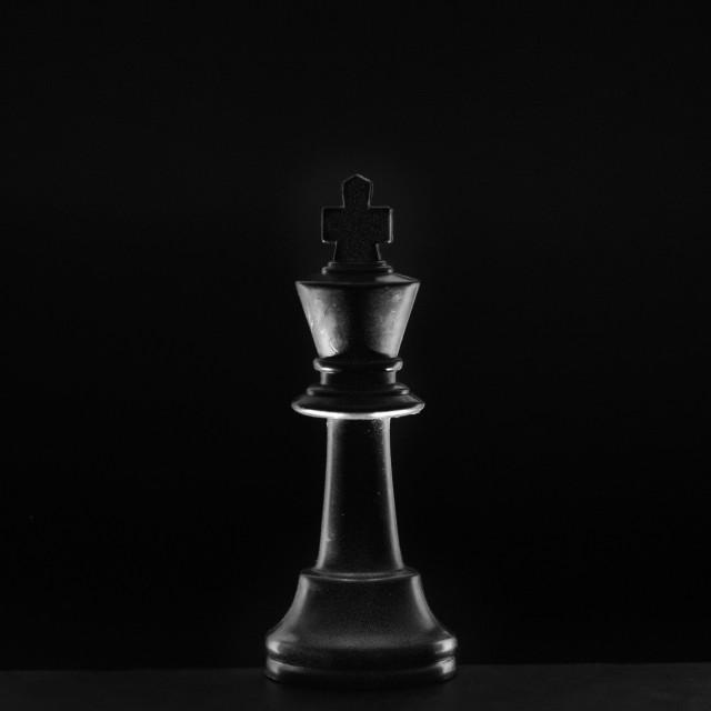 """""""Black King"""" stock image"""