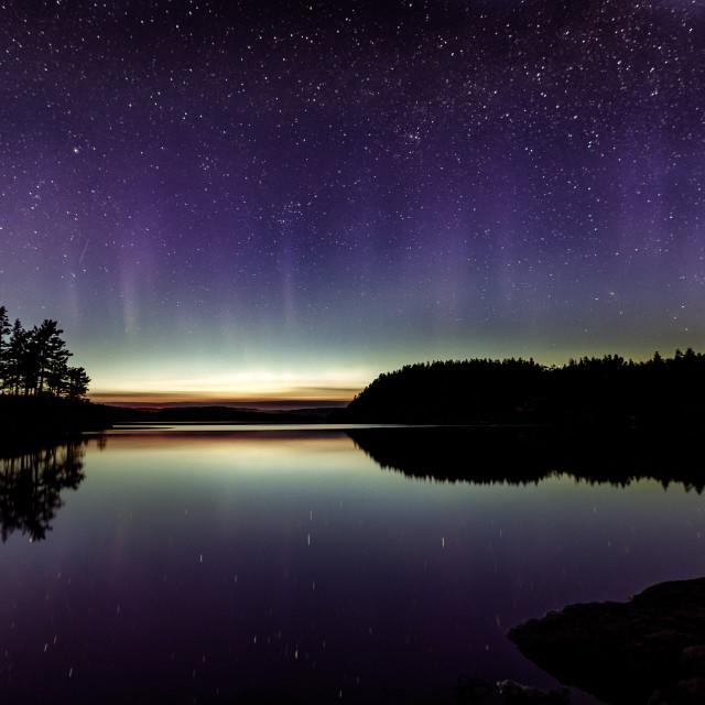 """""""Aurora Reflection"""" stock image"""