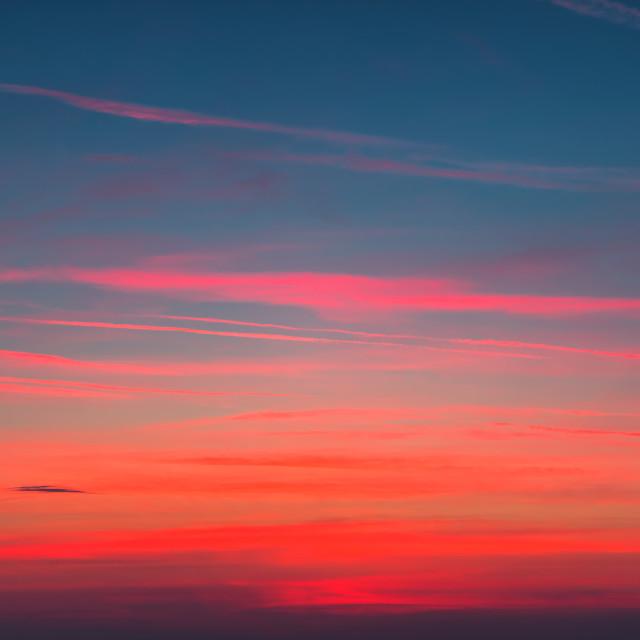 """""""Sunrise sky clouds"""" stock image"""
