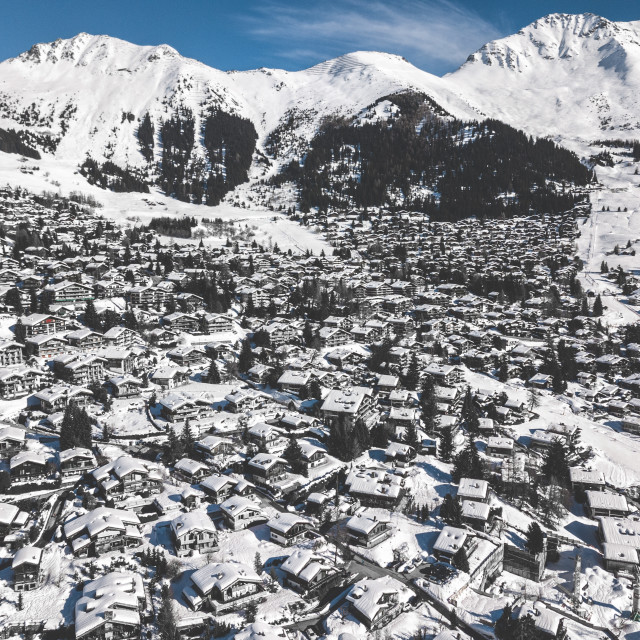 """Verbier Town"" stock image"