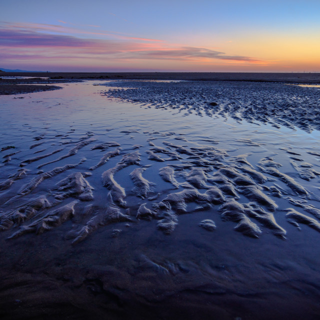"""Talacre Sunset Textures"" stock image"