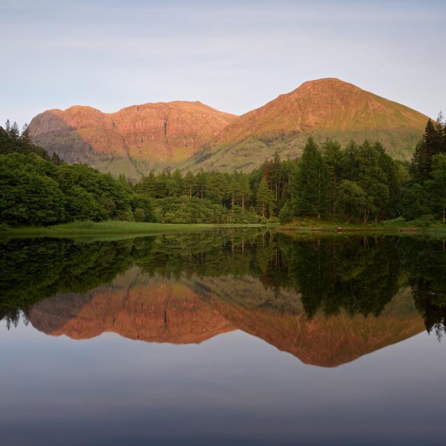 """""""Sunset at Torren Lochan"""" stock image"""