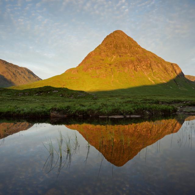 """Sunrise at Lochan Na Fola"" stock image"
