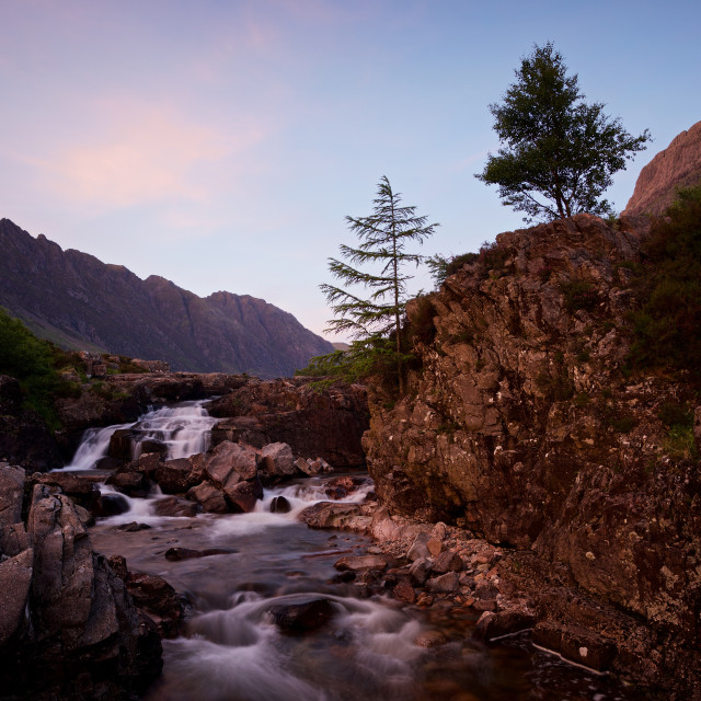 """Sunset on the River Coe"" stock image"