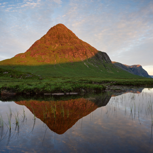"""Buachaille Etive Beag Sunrise"" stock image"
