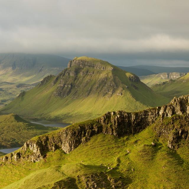 """The Trotternish Ridge"" stock image"