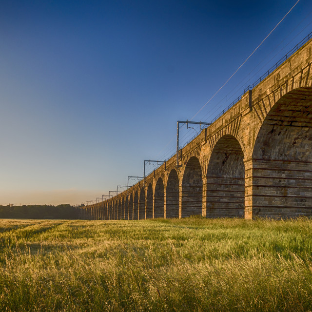 """""""The Almond Valley Viaduct"""" stock image"""