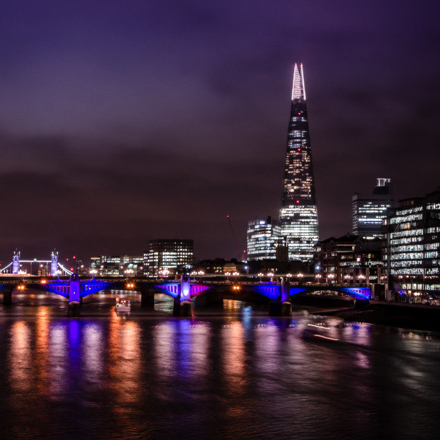 """""""River Thames and Shard"""" stock image"""