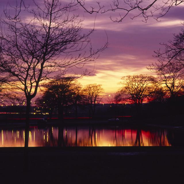 """Aberdeen Duthie Sunset"" stock image"