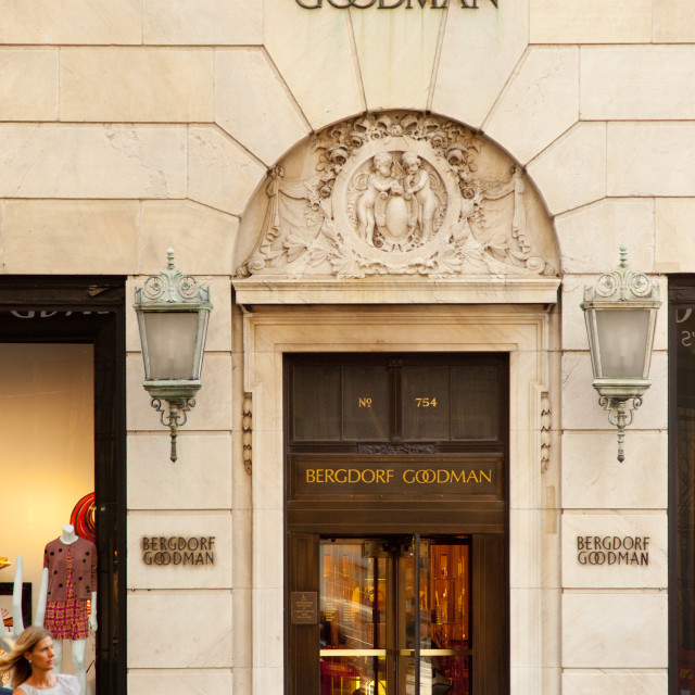 """Shopping at Bergdorf and Goodman - one of the famous 'B's' of shopping in..."" stock image"