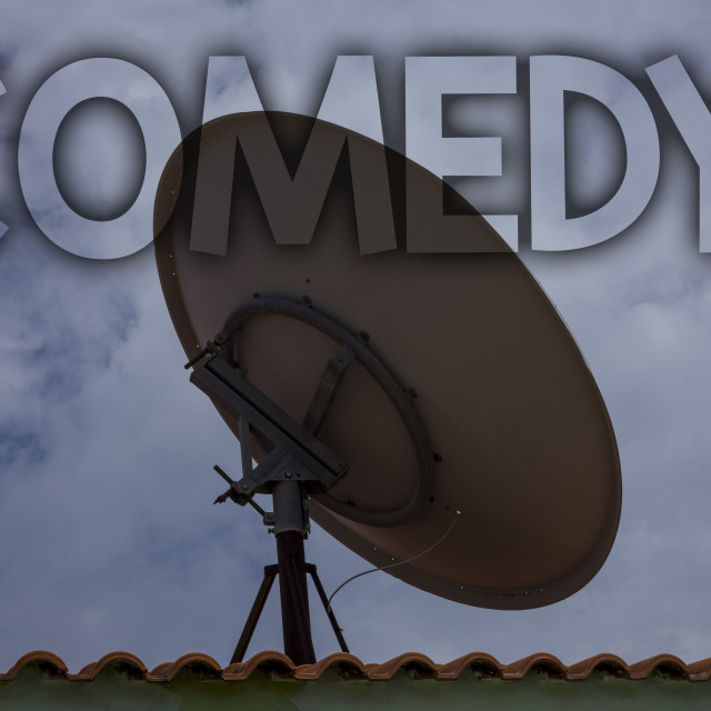"""""""Conceptual hand writing showing Comedy Call. Business photo text Fun Humor..."""" stock image"""