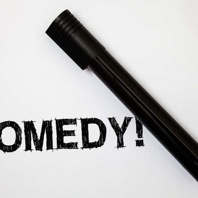 """""""Word writing text Comedy Call. Business concept for Fun Humor Satire Sitcom..."""" stock image"""
