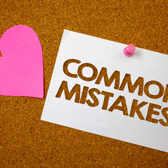 """""""Handwriting text Common Mistakes Motivational Call. Concept meaning lot of..."""" stock image"""
