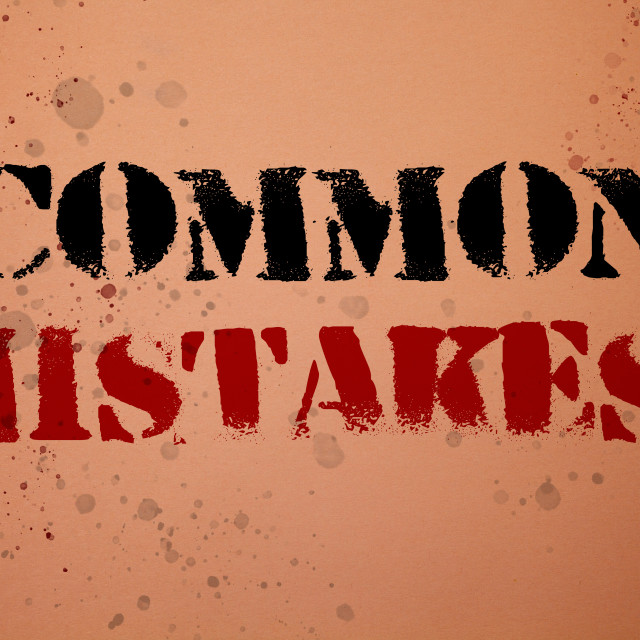 """""""Handwriting text writing Common Mistakes Motivational Call. Concept meaning..."""" stock image"""