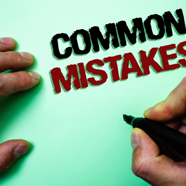 """""""Word writing text Common Mistakes Motivational Call. Business concept for lot..."""" stock image"""