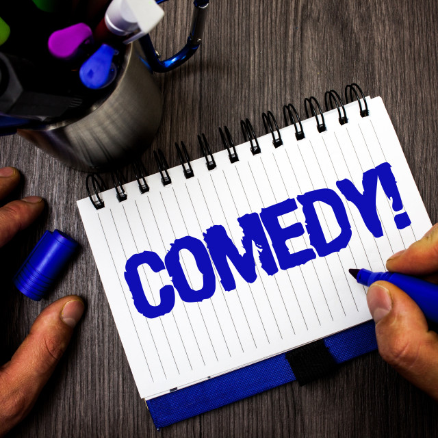 """""""Handwriting text writing Comedy Call. Concept meaning Fun Humor Satire Sitcom..."""" stock image"""