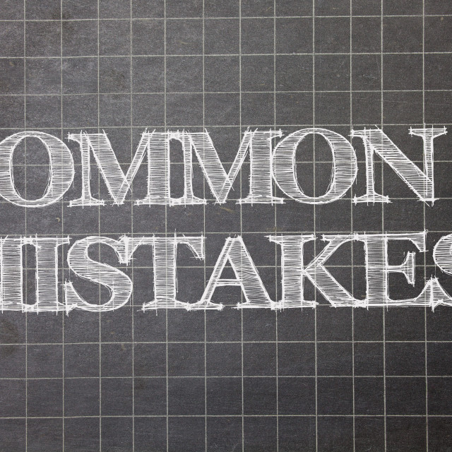 """""""Writing note showing Common Mistakes Motivational Call. Business photo..."""" stock image"""