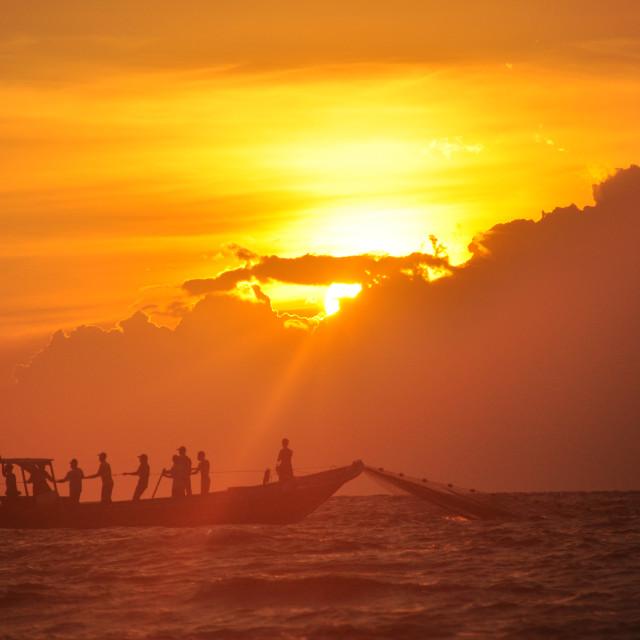 """The Fisherman #5"" stock image"