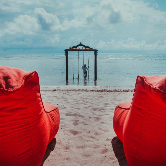 """The beach"" stock image"