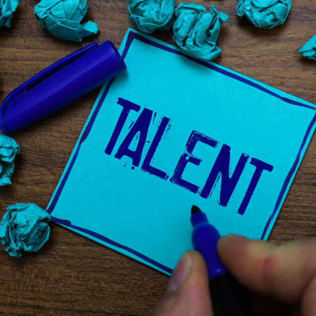 """Text sign showing Talent. Conceptual photo Natural abilities of people..."" stock image"