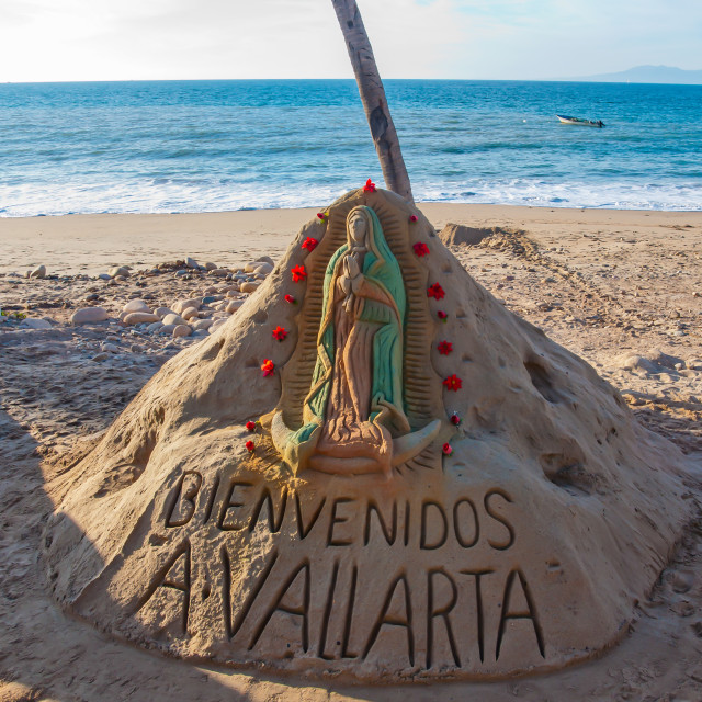 """Welcome to Puerto Vallarta"" stock image"