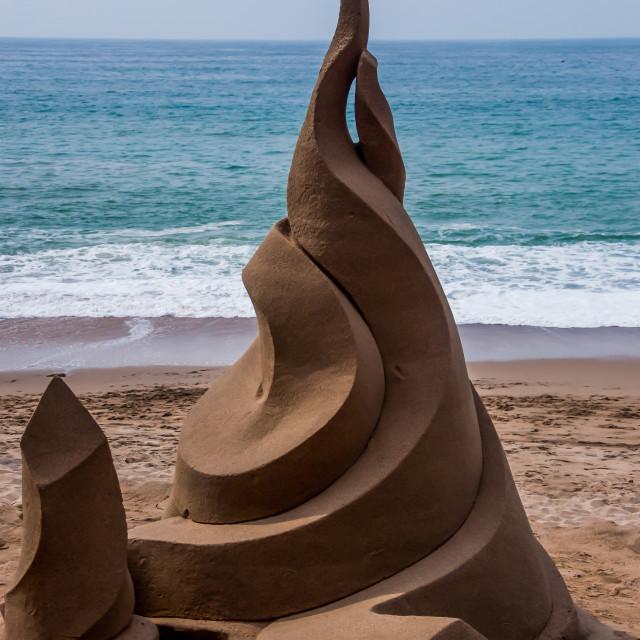 """""""Modern art in sand"""" stock image"""