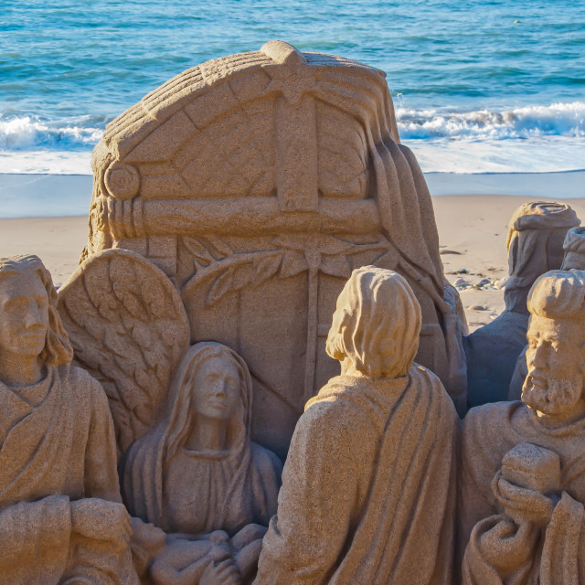 """Christmas theme in sand art"" stock image"