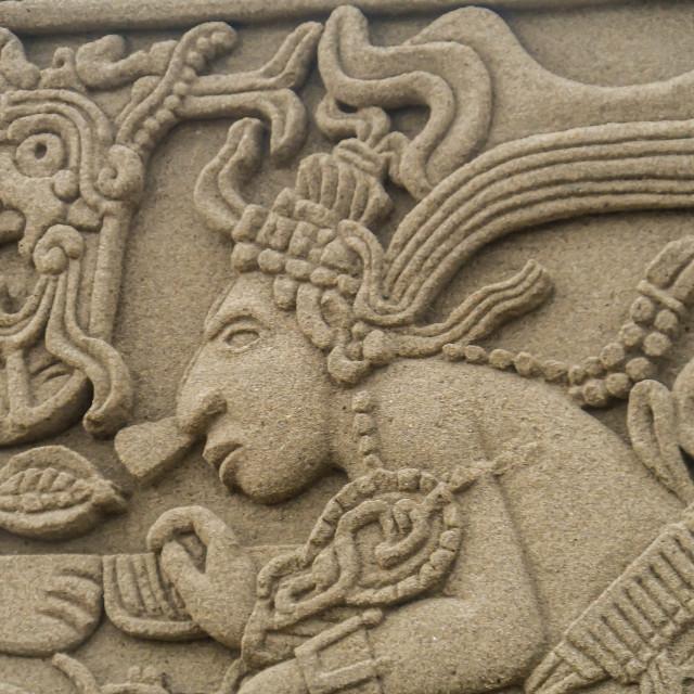 """Closeup of sand mural"" stock image"