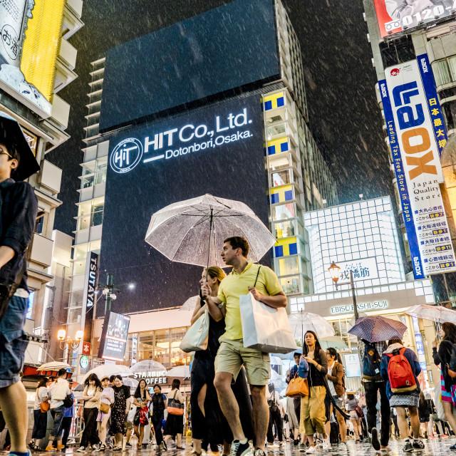 """Rain Osaka"" stock image"
