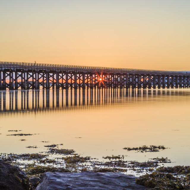 """Barmouth Bridge in Wales"" stock image"