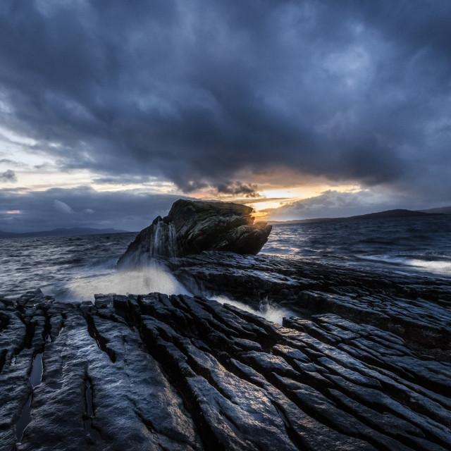 """Stormy Elgol, Isle Of Skye"" stock image"
