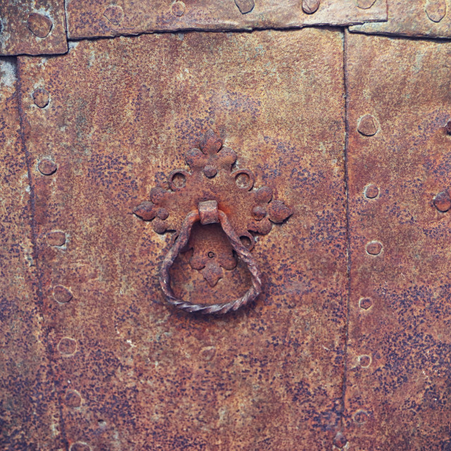 """""""material background: iron rusty ancient gate"""" stock image"""