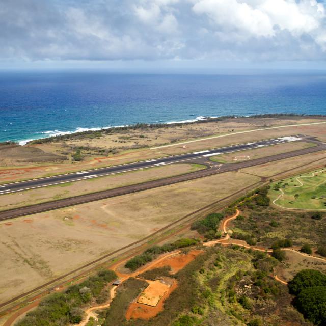 """Airport of Lihue, Kauai"" stock image"