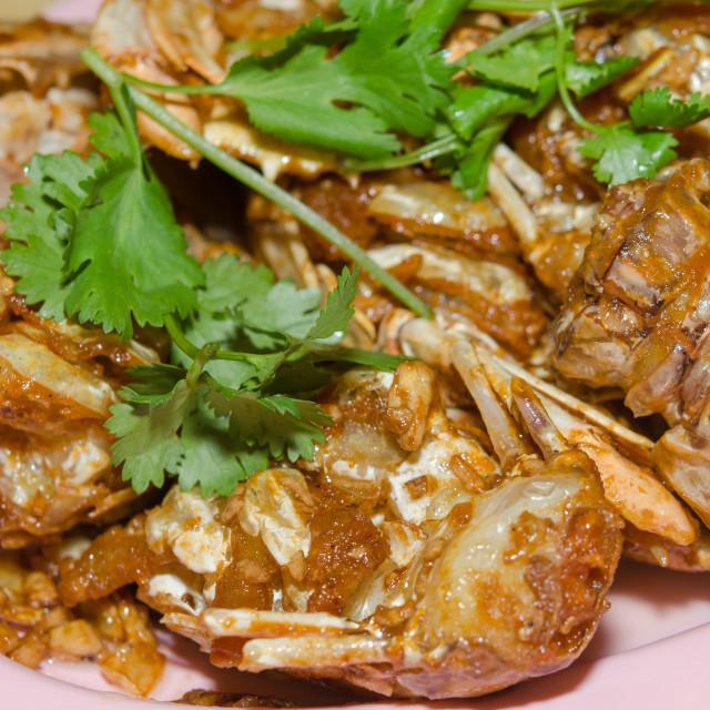"""ntis Shrimp fried garlic"" stock image"
