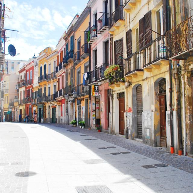 """Colourful streets of Sardinia"" stock image"