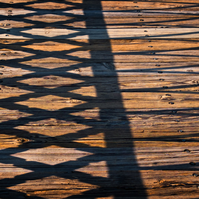"""Planks and Shadows"" stock image"