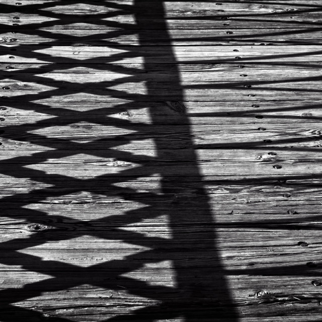 """""""Planks and Shadows"""" stock image"""