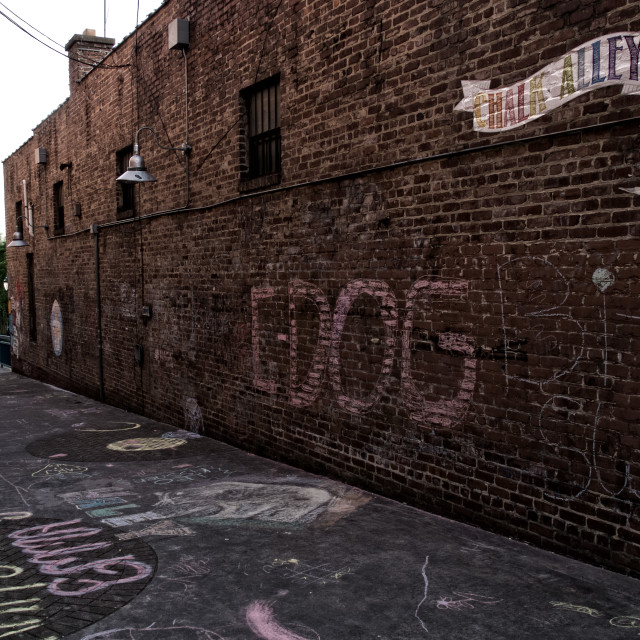 """Chalk Alley"" stock image"