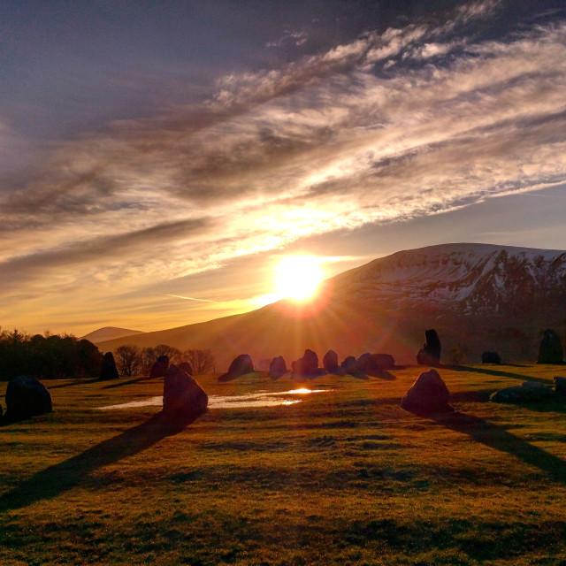 """Castlerigg Sunrise"" stock image"