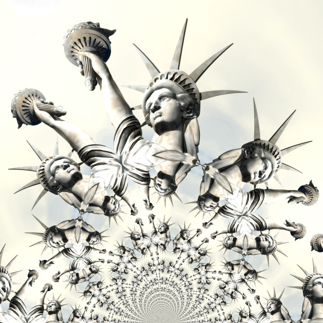 """3D Rendering, 3D Illustration of the Statue of Liberty"" stock image"