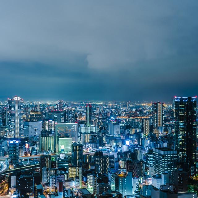 """""""Highrise Osaka"""" stock image"""