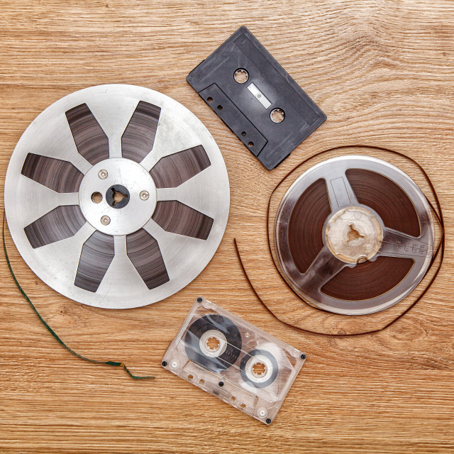 """""""cassettes tape and reel"""" stock image"""