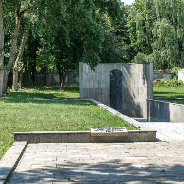 """""""Monument of Jews and Poles Martyrdom"""" stock image"""