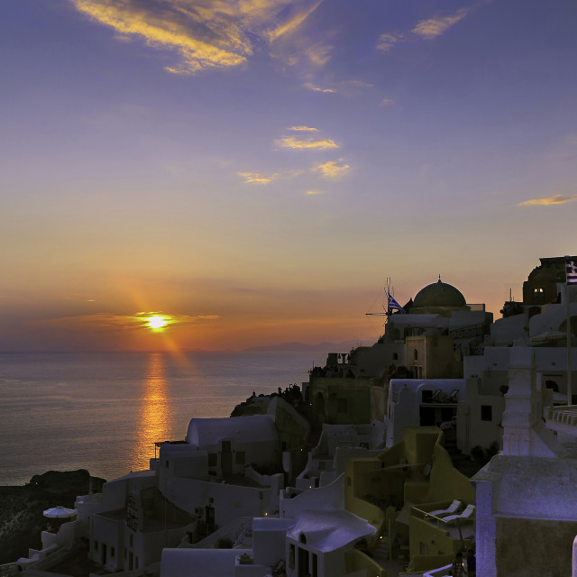 """Sunset in Oia."" stock image"
