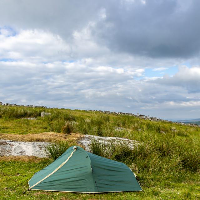 """Wild camping"" stock image"