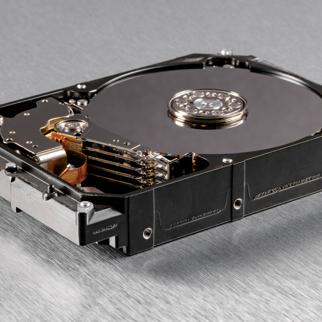 """Computer hard disk drive"" stock image"