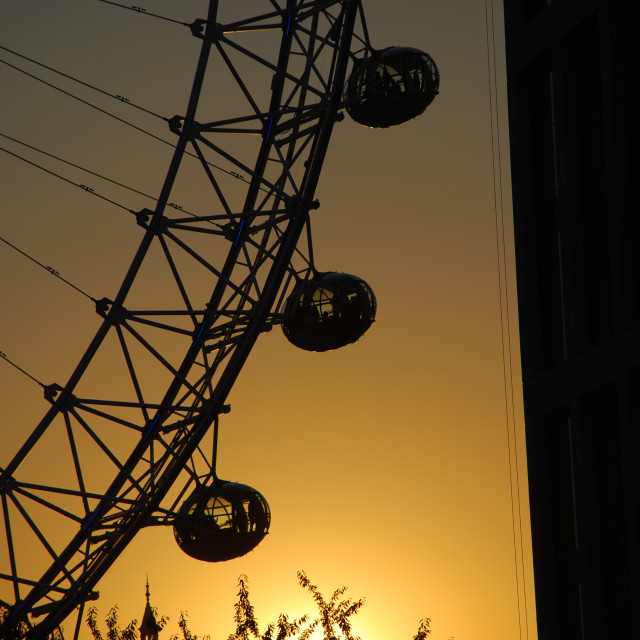 """London Eye Silhouette"" stock image"