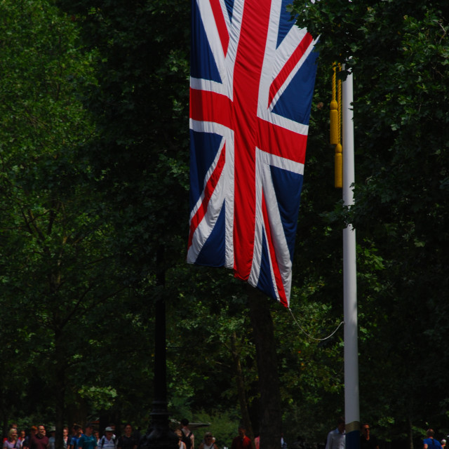"""Union Jack Flag in The Mall"" stock image"
