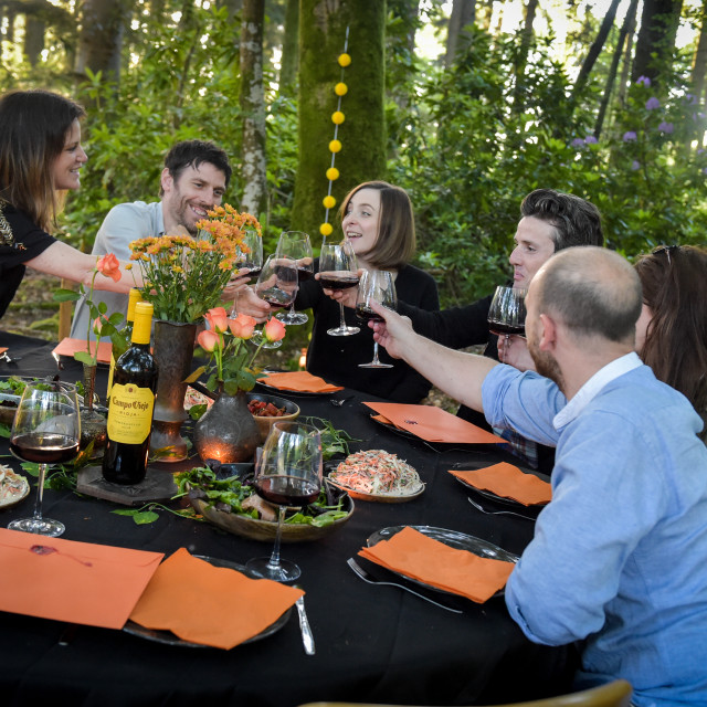 """Eating Outside"" stock image"